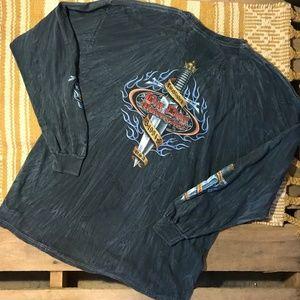 Big Dog Motorcycles Long Sleeve tie-dye shirt